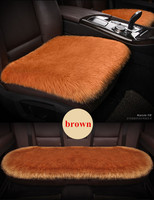 3PCS/SET Car Seat Cover Natural Sheepskin Faux Fur Long Simple Warm Winter Car Seat Cushion Fur Plush Universal Size 5 Colors