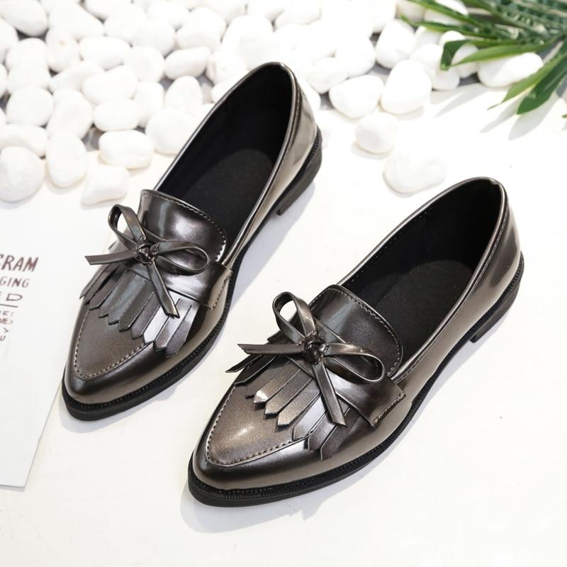 Otoño 1 Oxford 2019 De Mujer Mujeres Bowtie 2 Moda Plano Tacón Zapato 3 Casual Zapatos Ancho Las Plataforma Calzado Bajo a1TdBxqvwa