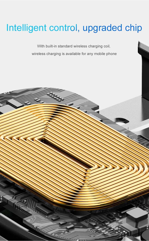 HTB1YWOLXli5K1Rjt hNq6zUDVXaf - Baseus Qi Car Wireless Charger For iPhone Xs Max XR X Samsung Intelligent Infrared Sensor Fast Wirless Charging Car Phone Holder