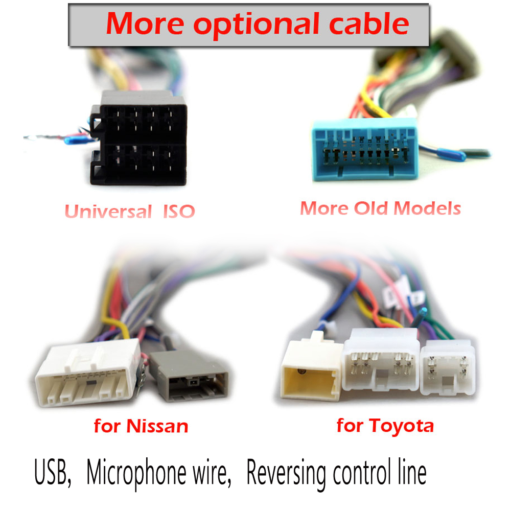 Car Rear View Backup Reverse Camera Connection Cable for Toyota MFD GEN5//6 2DIN