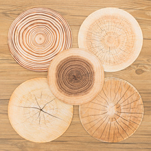 30cm Wood grain tree Annual ring Waterproof Circle Round Lockrand Gaming Working Personalized Mouse Mice Pad Mat