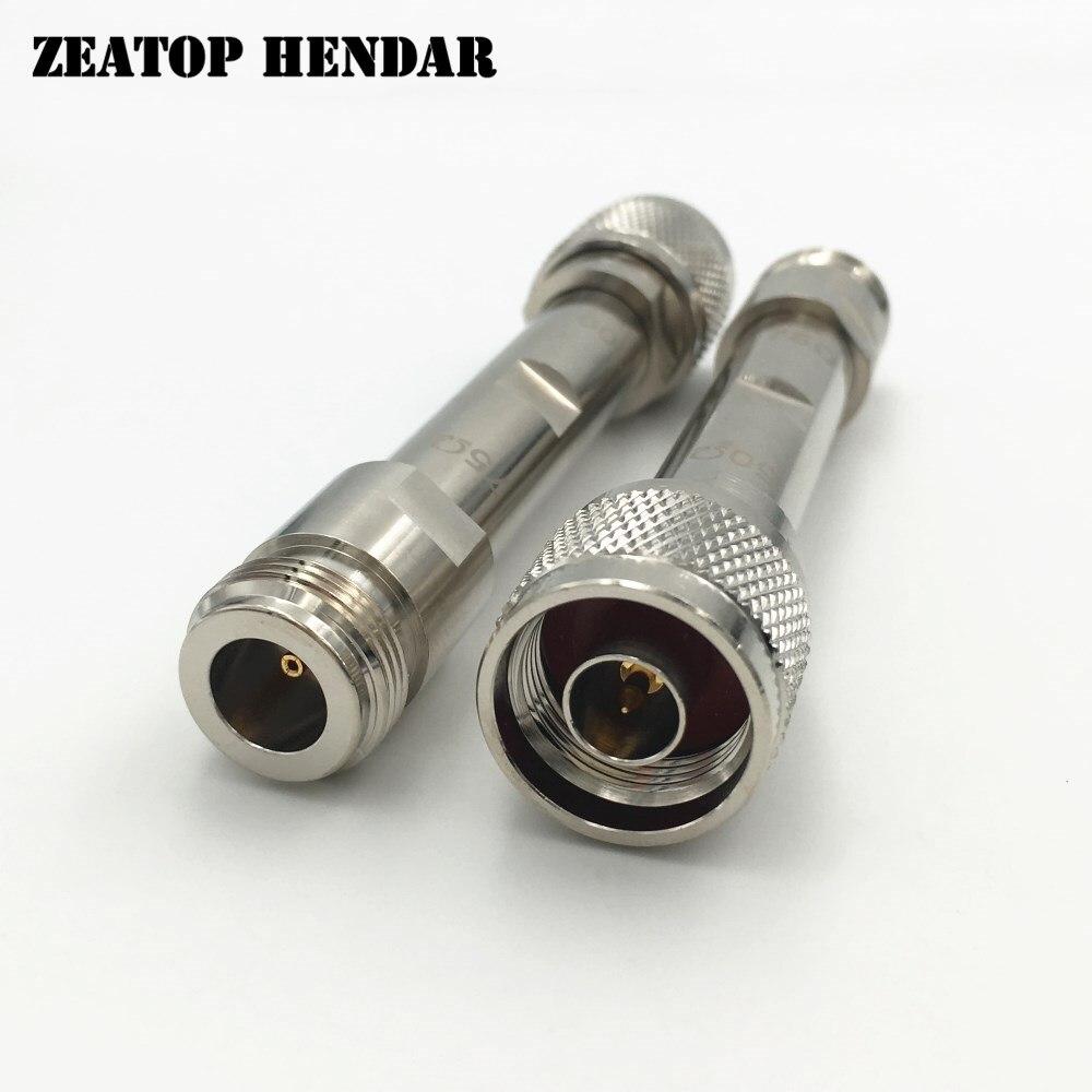 5Pcs Brass N Male 50 Ohm Jack to N Female 75 Ohm Plug Straight RF Attenuator