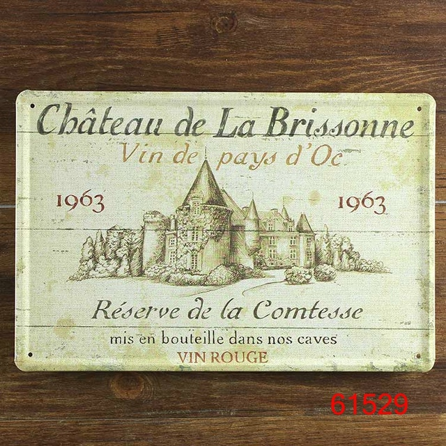 Chateau De La Brissonne 1963 Poster Wall Decor Bar Home Vintage Craft Gift Art Iron Painting Tin 30X20CM