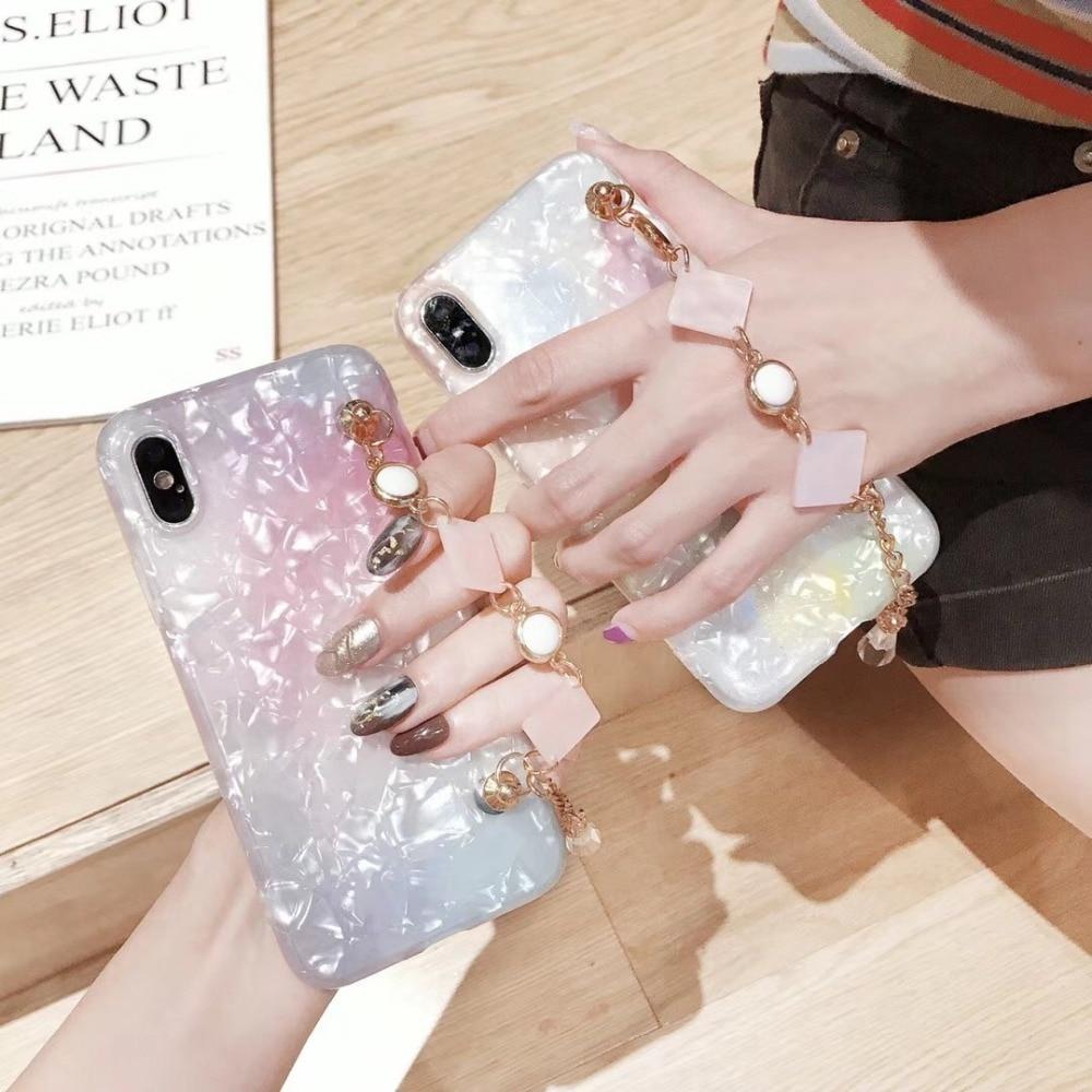Блеск Чехол Для Телефона iPhone 7 8 плюс мечта основа браслет Чехлы для iPhone X 8 7 6 6 S плюс мягкая TPU силиконовая задняя крышка