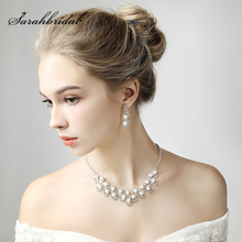 Fashion Wedding Bridal Jewelry Sets Party Necklace Earring Jewellery Set Rhinest