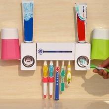 Pro практические Antibacteria УФ-излучение ультрафиолетовой Зубная щётка диспенсер стерилизатор Ванная комната Зубная щётка держатель очиститель с 2 чашки