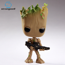 Strongwell Groot Hot Toys Marvel Guardians Groot The Galaxy Avengers Cute Baby Tree Man Action Figure Toys marvel galaxy guard 2 groot small tree baby bluetooth audio s box model hand office w07