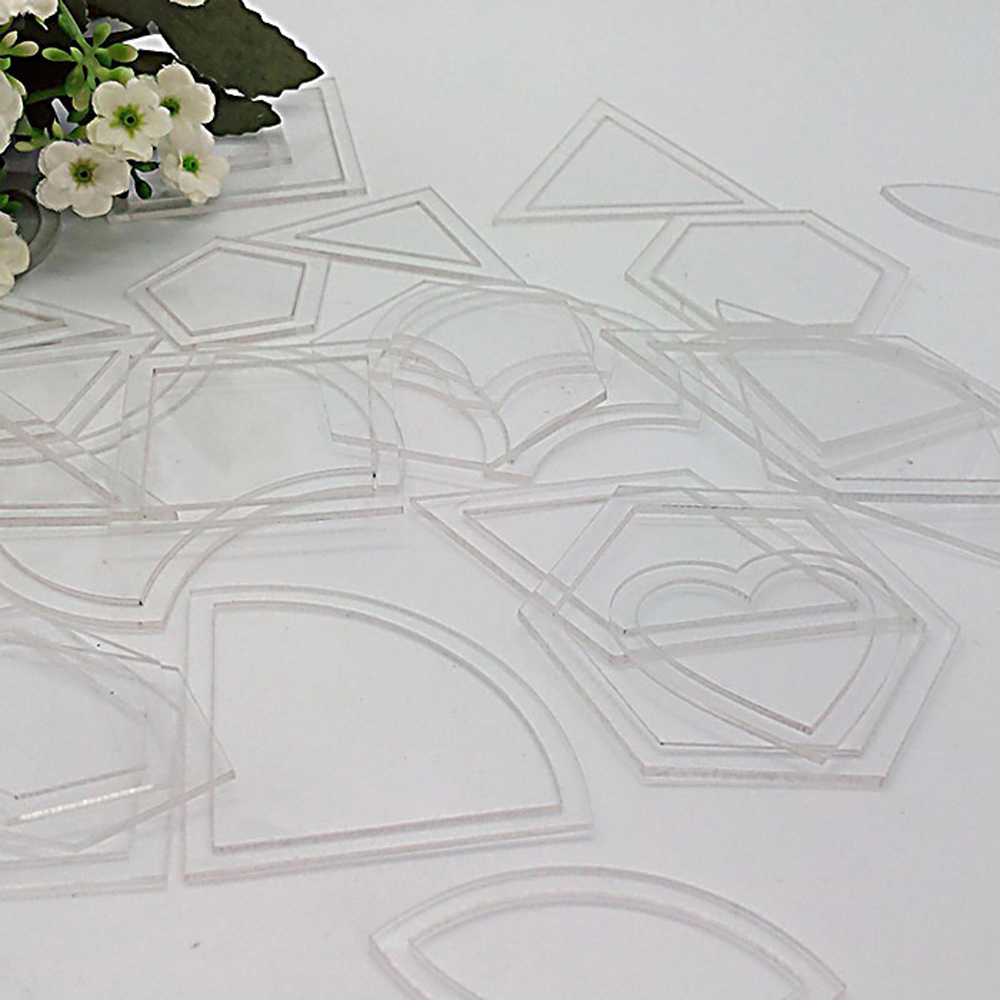 1 set 54PCS mixed quilt templates acrylic diy tools for patchwork ...