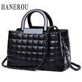 High Quality Black Women Messenger Bags Quilted Leather Bags Chain Crossbody Handbags Women's Hand Bag Brand Shoulder Bag Women