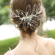 TOPQUEEN HP255 wedding accessories for hair  bride hair tiara hair fascinators for weddings bride ornaments on her head