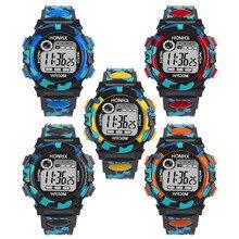 Дети ребенок мальчик девочка Многофункциональный Водонепроницаемый спортивные электронные часы Часы светящиеся наручные часы мужественность модные спортивные #8