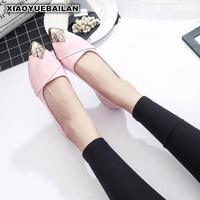 2017 Nouveau Printemps Chaussures Basses Chaussures Pied Plat Couleur Documentaire Bouche Peu Profonde Pointu Chaussures En Cuir Chaussures