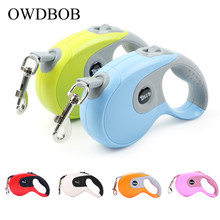 OWDBOB 3M 5M Automatic Retractable Dog Leash Leads Extending Walking Running Traction Rope for Small Medium Large