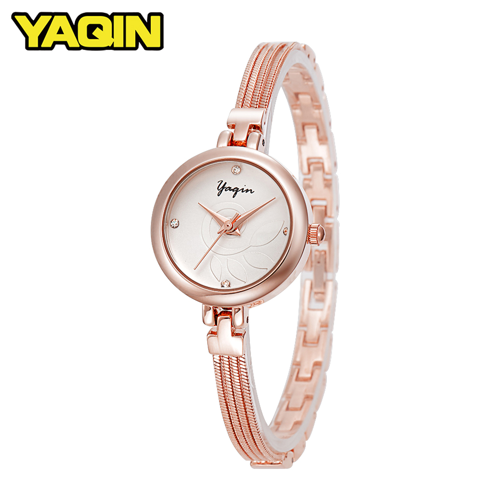 2018 Fashion Women Mesh Watchband Quartz Watch Rhinestone Ladies Luxury Bracelet Watch Rose Gold Dress Gift Relogio Femininos