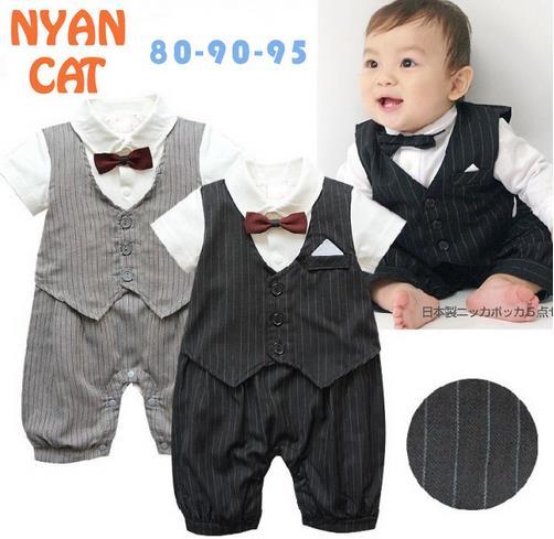 5654ef52422a 2017 New Arrive Baby Boy Romper Kids Gentleman Style Summer Short ...