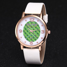 Women Fashion Personality Football Field Dial Watch Printing