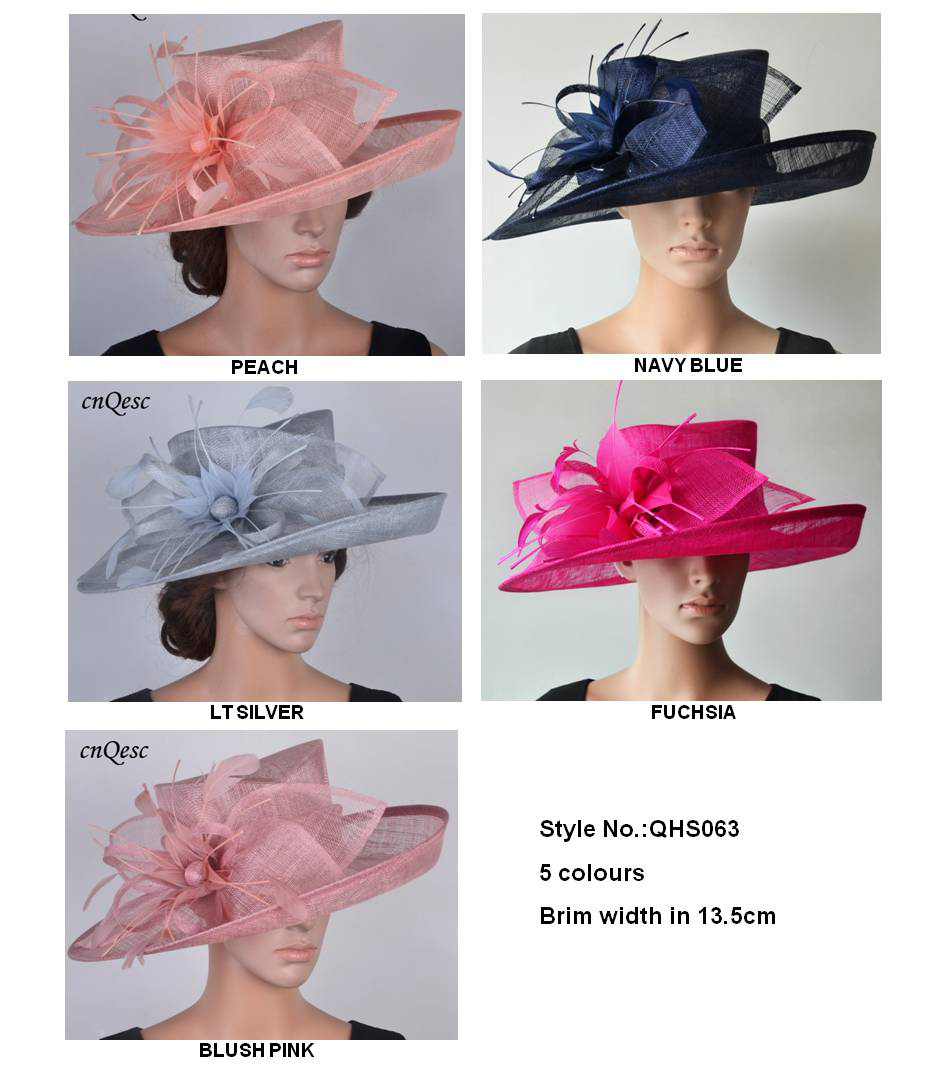 NEW COLOURS ADDED Wide brim Sinamay Hats Fascinators Church hats for races wedding kentucky derby Ascot