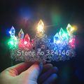 New Fashion Magnificent Crystal Bridal princess Crown  Rhinestone Multicolour Led tiaras for Women Wedding Hair Accessories