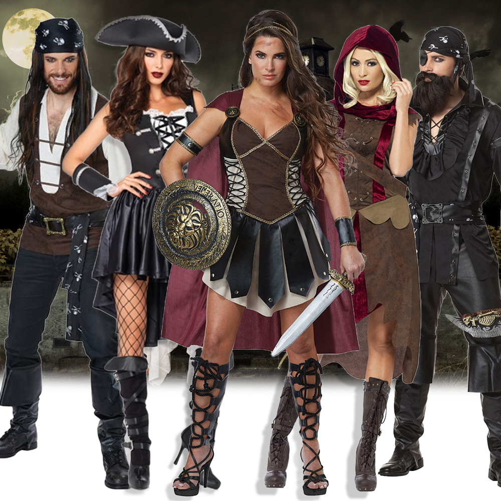 Novelty & Special Use Humor Fantasia Adult Pirate Cosplay Dress Halloween Cosplay Costume Cool Cavalier Clothing Women Fancy Party Dress Size S M L Xl Xxl
