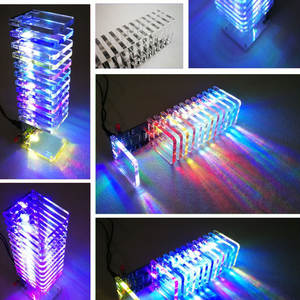 Accessories & Parts Leory 1pc 16x16 268 Led 3d Led Light Cube Kit Music Spectrum Electronic Kit With Remote Control Welding Auxiliary Plate Diy A Wide Selection Of Colours And Designs