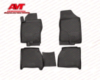 Floor mats for Nissan Navara 2010 2015 4 pcs rubber rugs non slip rubber interior car styling accessories