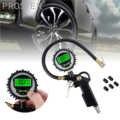 Proster 디지털 타이어 압력 게이지 타이어 팽창기 게이지 200 psi 5 블랙 밸브 캡 차량 테스터 인플레이션 모니터링