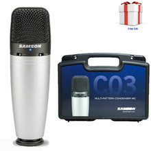 100% Original Samson C03 Multi-pattern Condenser Microphone For Recording Vocals, Acoustic Instruments with Carry Case free gift