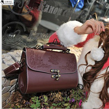 HANSOMFY  New Handbag Bag Retro Carved Lacquer Witch Box Bags Ladies Bags Wholesale