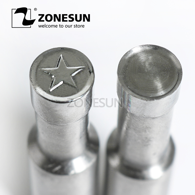 ZONESUN Star logo custom round candy milk tablet slice die Stamp precision punch die mold sugar tablet press tool TDP 0/1.5/3