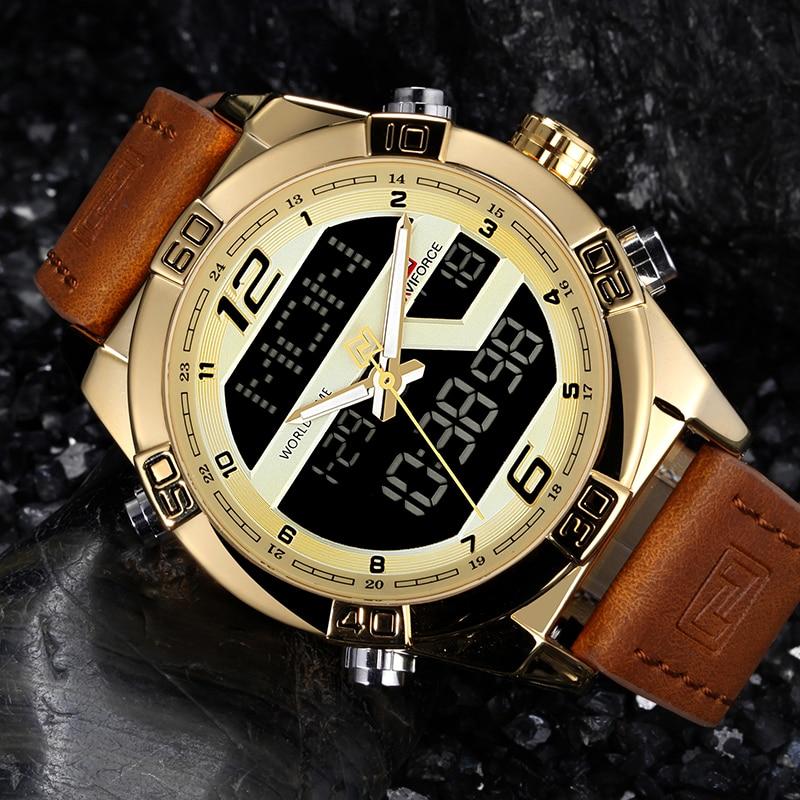 NAVIFORCE Luxury Brand Men Sports Chrono Watch Analog Digital Display 1