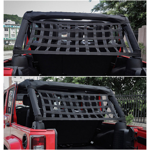 New Heavy Duty Cargo Roof Top Soft Hammock for Jeep Wrangler JK 07-18 DXY88