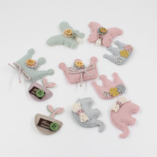 5pcs/lot 2019 cloth patch DIY cute Animal patches for children clothing sew-on girls ropa decoration cartoon Embroidered