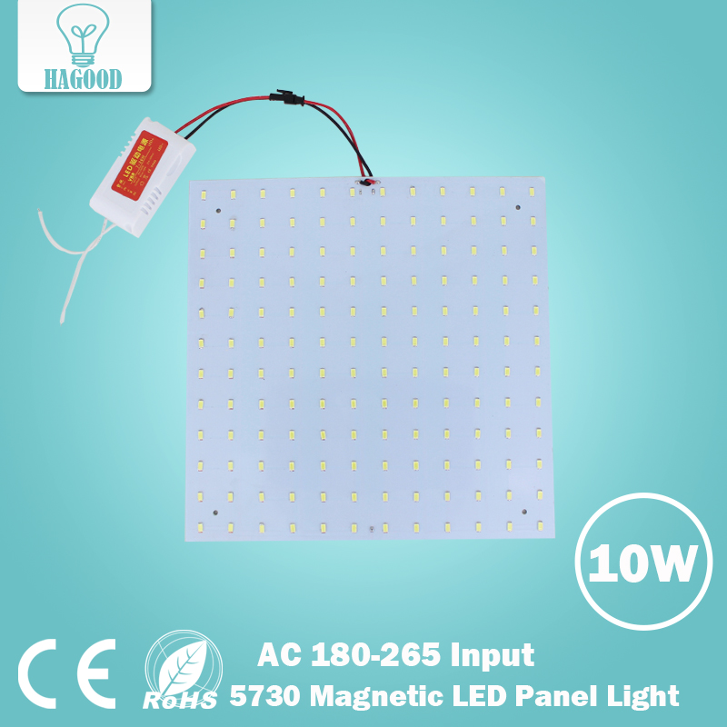 Free Shipping 180-265V LED Panel Lamps Square 10W SMD 5730 Magnetic LED Ceiling Light Bulb for Panel Light DIY