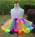 Пачка радуга тюль дети девушки детей юбка малышей детские мини платье костюмированный бал ну вечеринку балет танец свадебная юбка