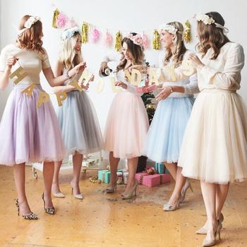 6 warstwy moda Tutu Tulle spódnica do kolan plisowana spódnica ślubne damskie spódnica Lolita Saia Faldas jupiter tanie i dobre opinie kartoska Mesh Woal Knee Length Pleated Skirts Naturalne Stałe Suknia balowa Na co dzień NONE Kobiety Wedding skirt High Waist Swing Dolly Ball Gown Underskirt