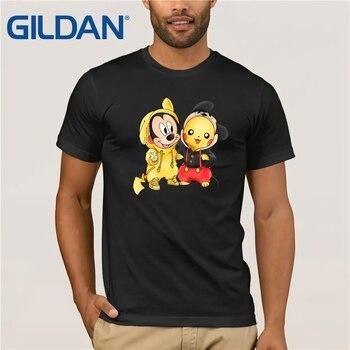 4c33b4aec Gildan marca amistad Pikachu y Mickey Mouse Mashup camisetas 2019 de los  hombres de verano Camiseta de manga corta
