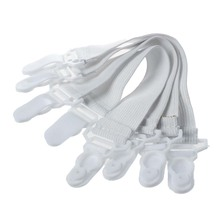 ABKM Hot 4 Pcs Home White Elastic Mattress Bed Sheet Grippers Clips