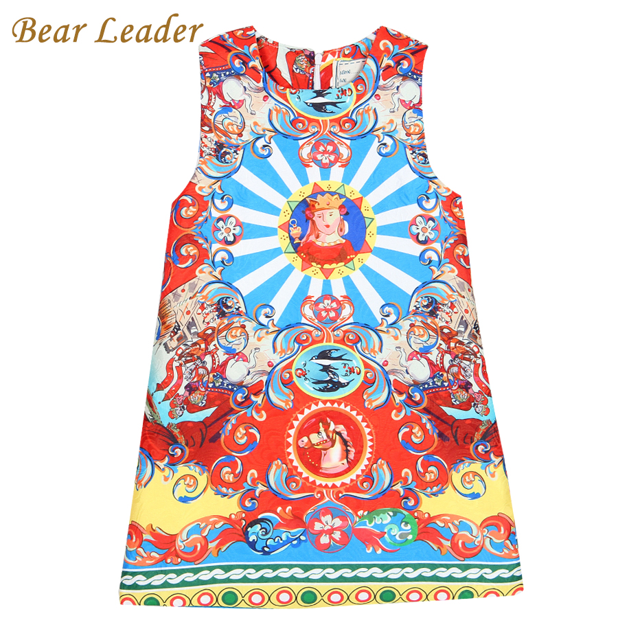 Подробнее о Bear Leader Girls Dress 2016 Brand Princess Dresses Girls Clothes Sleeveless Pelple Model Pattern Print Design for Kids Clothes bear leader girl dresses 2016 brand girls costumes princess dress kids clothes sleeveless bow plaid pattern girls dress children