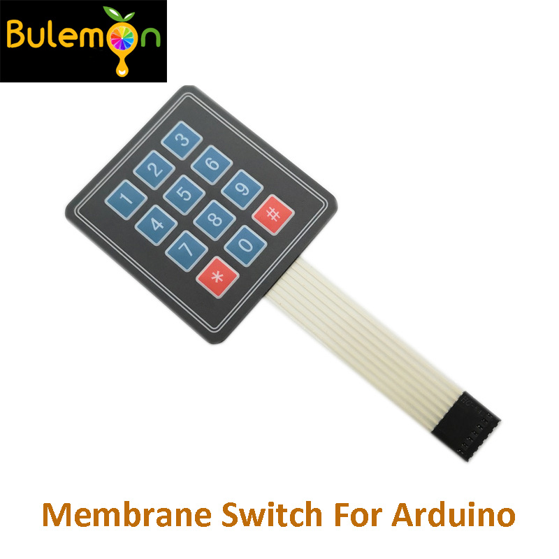 3 * 4 Matrix Keypad Membrane Switch Outside Enlarge Keypad For Arduino