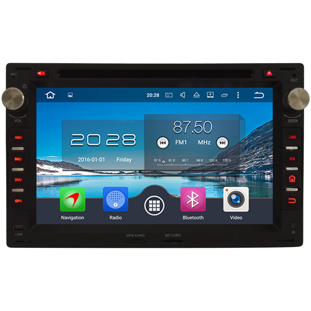 Android 6.0 7 Octa Core 4GB+32GB 2DIN DAB FM Car DVD Radio Player For Volkswagen Jetta Seat Toledo Leon 1M Skoda Superb Octavia