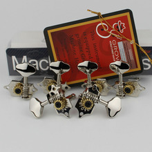 Grover Vintage Guitar Machine Heads Tuners 3 Per Side Vertical 97V  Nickel Tuning Pegs Made in China