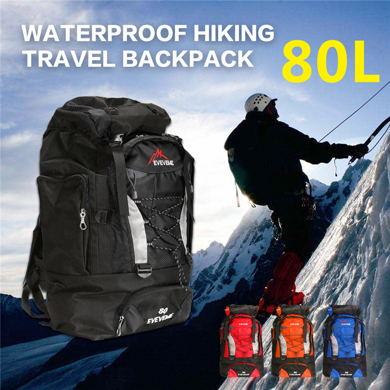 Outdoor 80L Camping Hiking Backpack Sports Backpacks Mountaineering Bag Travel Trekk Rucksack Mountain Climb Equipment waterpro pvc dry bag travel bag diving equipment bag 80l marble black