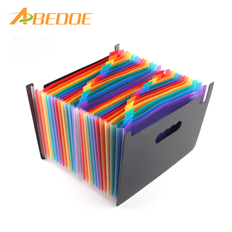 2ded918fdc88 US $13.78 36% OFF|ABEDOE 24 Pockets Expanding Files Folder A4 Expandable  File Organizer Portable Accordion File Folder Business File Organizer-in  Home ...