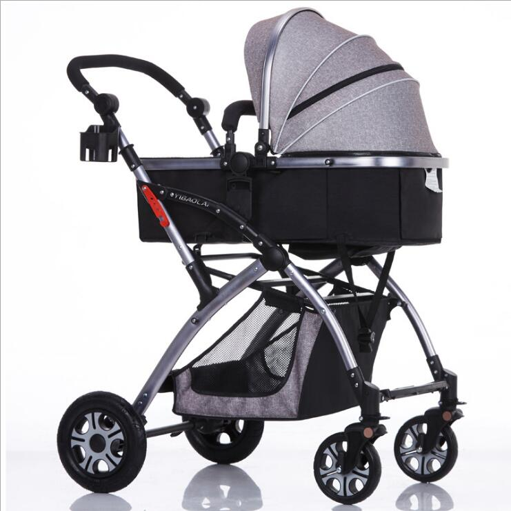 BEYOU Good quality umbrella aluminium alloy stroller for newborn baby High view fold pram baby carriage BY0128 fulang aluminium alloy fishing rotatable umbrella heat protection double layers 2m r35