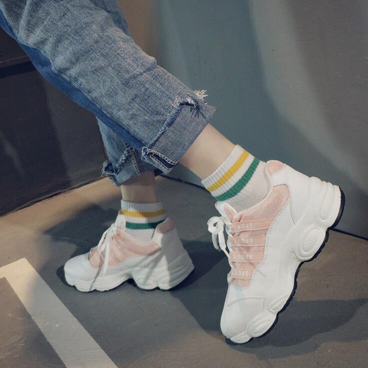 Sneakers Shoes White Shoe Women Trainers Women Platform Sneaker Lady Autumn Winter Footwear Girls Breathable Soft Baskets Casual