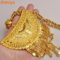 Anniyo очень большой Африка кулон ожерелья для Для женщин золото Цвет Эфиопский/Нигерия/Конго/Судан/Гана/ арабские Ювелирные изделия #098506