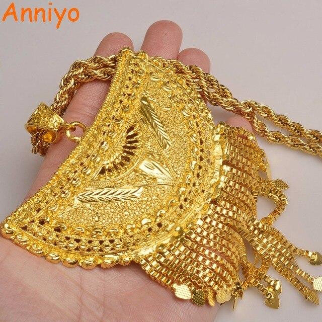 Anniyo מאוד גדול אפריקה תליון שרשראות לנשים זהב צבע האתיופית/ניגריה/קונגו/סודן/גאנה/תכשיטים ערבים #098506