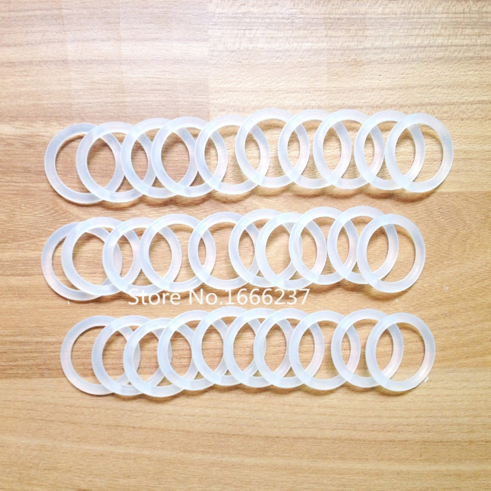 30Pcs Transparent Clear Silicone Rubber Baby Nipples Pacifier Holder ...