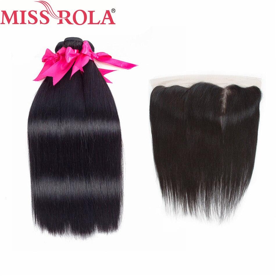 Miss Rola Hair 100 Human Hair Bundles Malaysian Straight Hair Natural Color 3 Bundles With 13