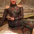 2017 New Fall Embroidery Beaded Maxi Dress Sexy Celebrity Runway Winter Embroidery Dress Baroque Rhinestone Long Bodycon Dress